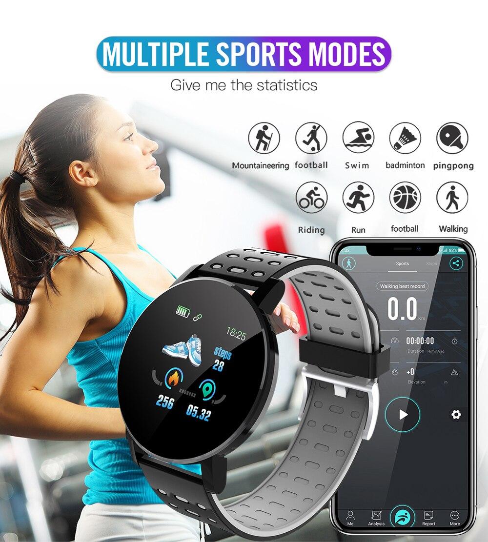 Hdb85121d7c544c20970ccef8b2377144o Fitness Bracelet Blood Pressure Measurement Smart Band Waterproof Fitness Tracker Watch Women Men Heart Rate Monitor Smartband