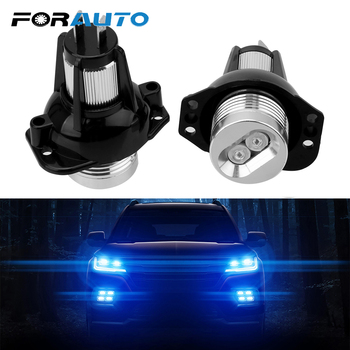 FORAUTO 2pcs LED Angel Eyes Marker Light Bulbs Car Lamps for BMW E90 E91 900lm Error Free Decorative Lights Auto Fog Lamp image