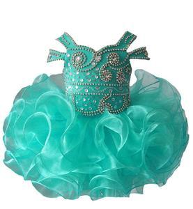 Image 3 - Платье пачка с бретельками, украшенное бусинами, для младенцев, для первого причастия, на заказ, для маленьких девочек, платье для дня рождения