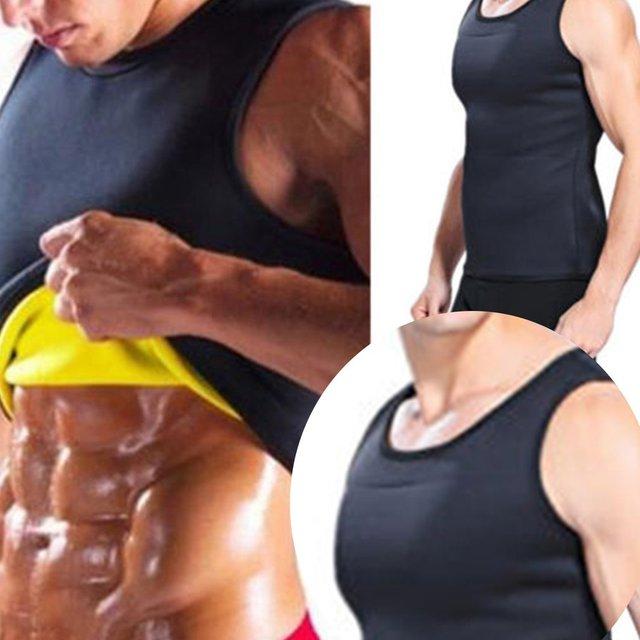Sleeveless Slimming Belt Belly Men Slimming Vest Body Shaper Abdomen Fat Burning Shaperwear Waist Sweat Corset Weight Loss 2