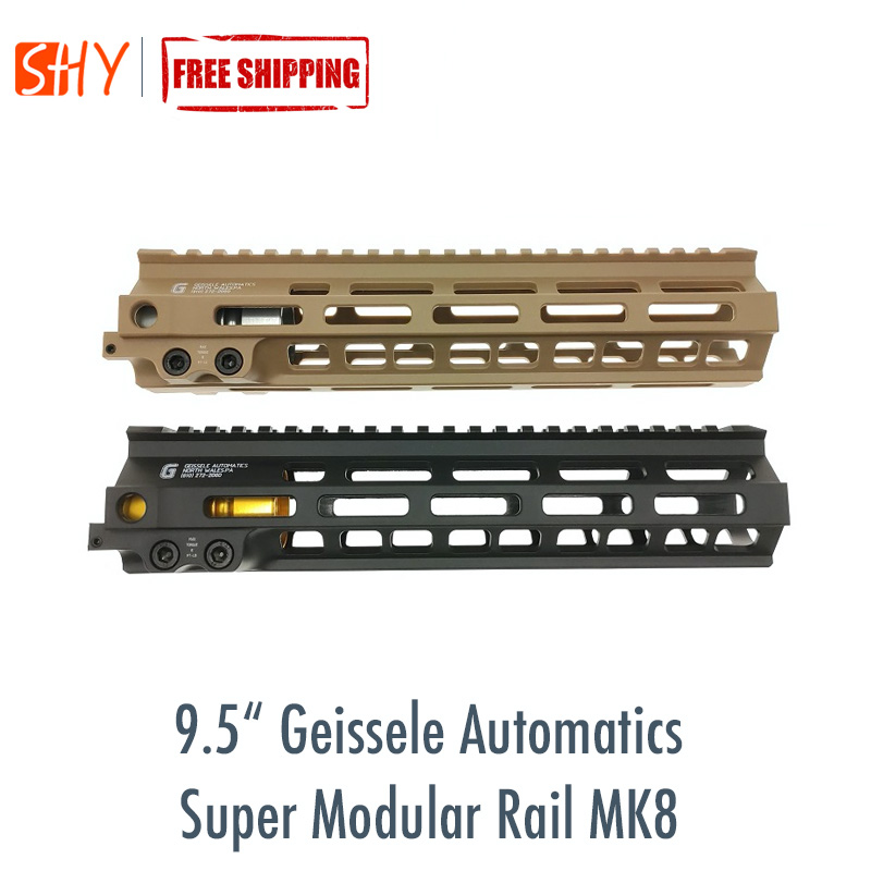 "9.5"" Geissele Automatics Super Modular Rail MK8 M-Lok Handguard For Toy Water Gel Ball Blaster Airsoft AEG GBB"