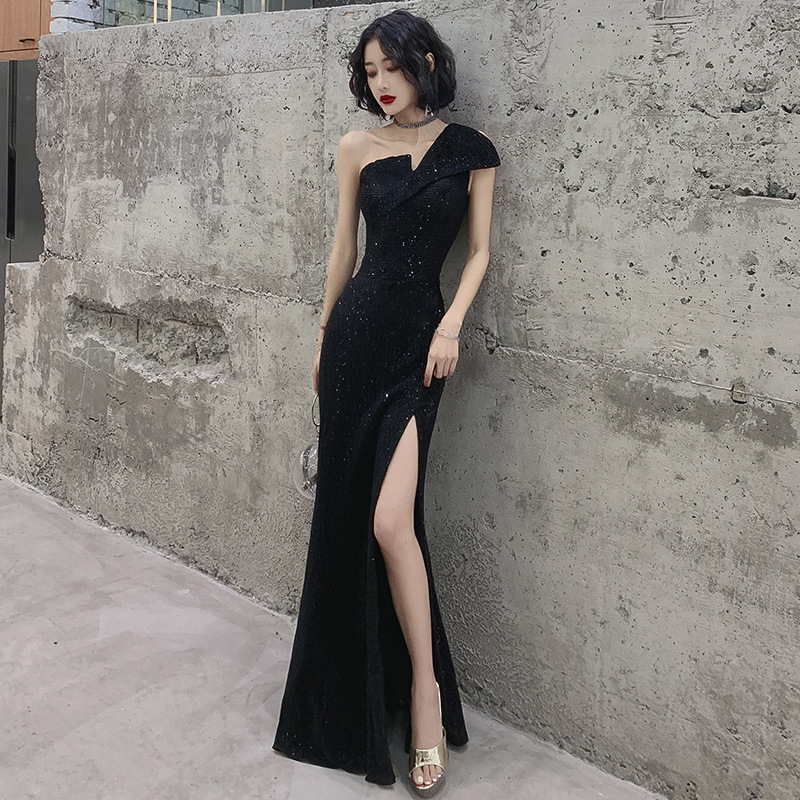 2020 Cocktail Dress Evening Dress Female Banquet Noble High-end Atmosphere Show Thin Host Annual Dinner Celebrity Long Style