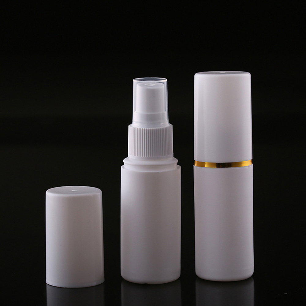Empty White Plastic Cosmetic Jar Vacuum Containers High Grade Spray Refillable Bottles 30/50/60ml Travel Accessories 1pc