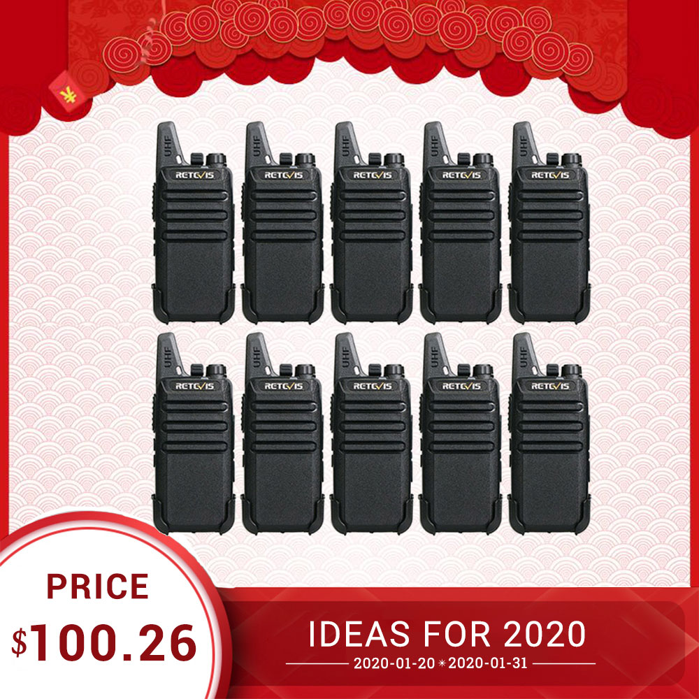 10pcs Cheap PMR Walkie Talkie Retevis RT622/RT22 PMR446 UHF FRS VOX Handsfree USB Charging Rechargable Two-way Radio Woki Toki