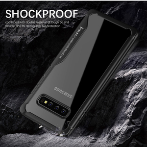 Image 5 - IPAKY for Samsung S8 S9 S10 Plus Note 10 Super Shockproof Transparent Silicon Acrylic Cover Case For Samsung Note 10 Plus Case