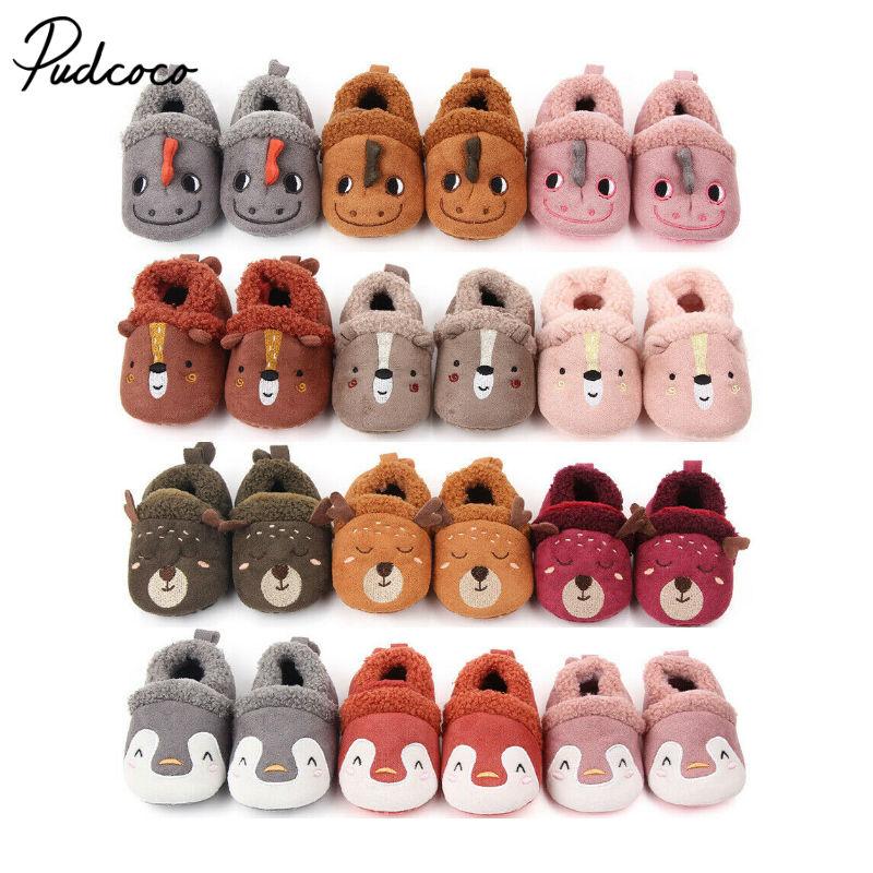 Fashion 2020 Toddler First Walkers Kids Winter Boys Girls Fashion Shoes Warm Cute Cartoon Kids Animal Cute Baby Shoes