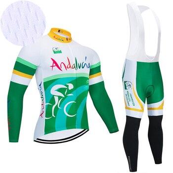 Andalucía-Ropa deportiva para Ciclismo de montaña, Maillot de manga larga y secado...