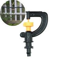 """Snelle Verzending 200 Pcs Automatische Irrigatie Sproeier Met 1/4 """"Barb Tuin Micro Irrigatie Sprinkler Kas Roterende Nozzle"""