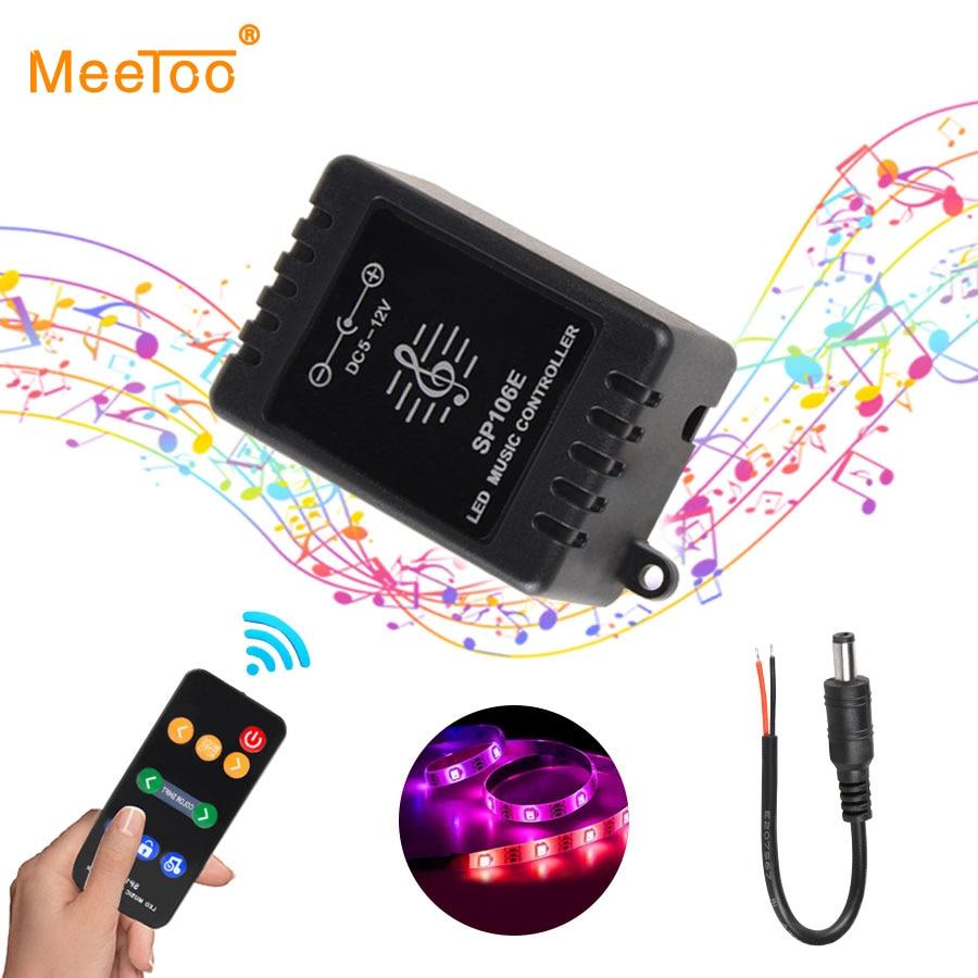 RF LED Music Remote Controller Sound Sensor for WS2811//WS2812B RGB Strip Light