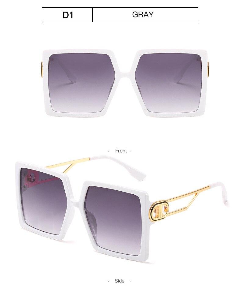 Fashion Sunglass Designer Luxury Brand Square Sunglasses Women Vintage Oversized 2021 trend Female Sun Glasses Shades For Women (16)