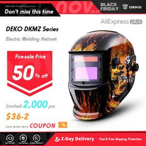 Helmet Welding-Lens MMA MIG Auto Darkening Electric DEKO for Adjustable Range