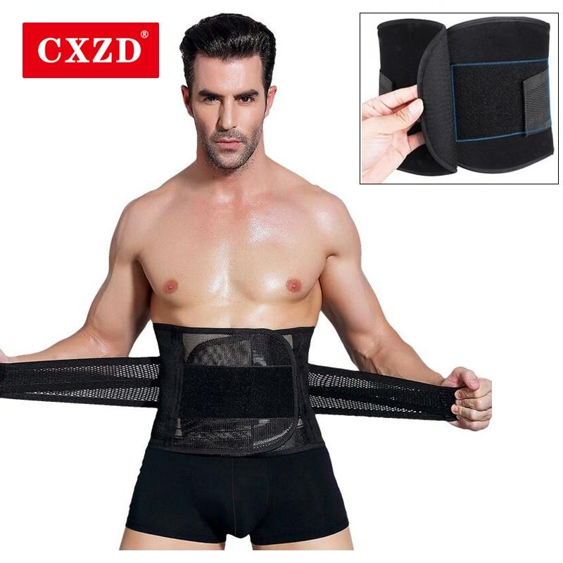 CXZD Modeling Straps Waist Trainer Men Slimming Belt Belly Corset For Men Body Shaper Modeling Strap Girdle Slim Belt Supports