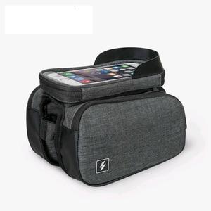 SAHOO нейлоновая Водонепроницаемая велосипедная сумка передняя рама велосипедная сумка с сенсорным экраном Bikepacking термополиуретановый чехо...