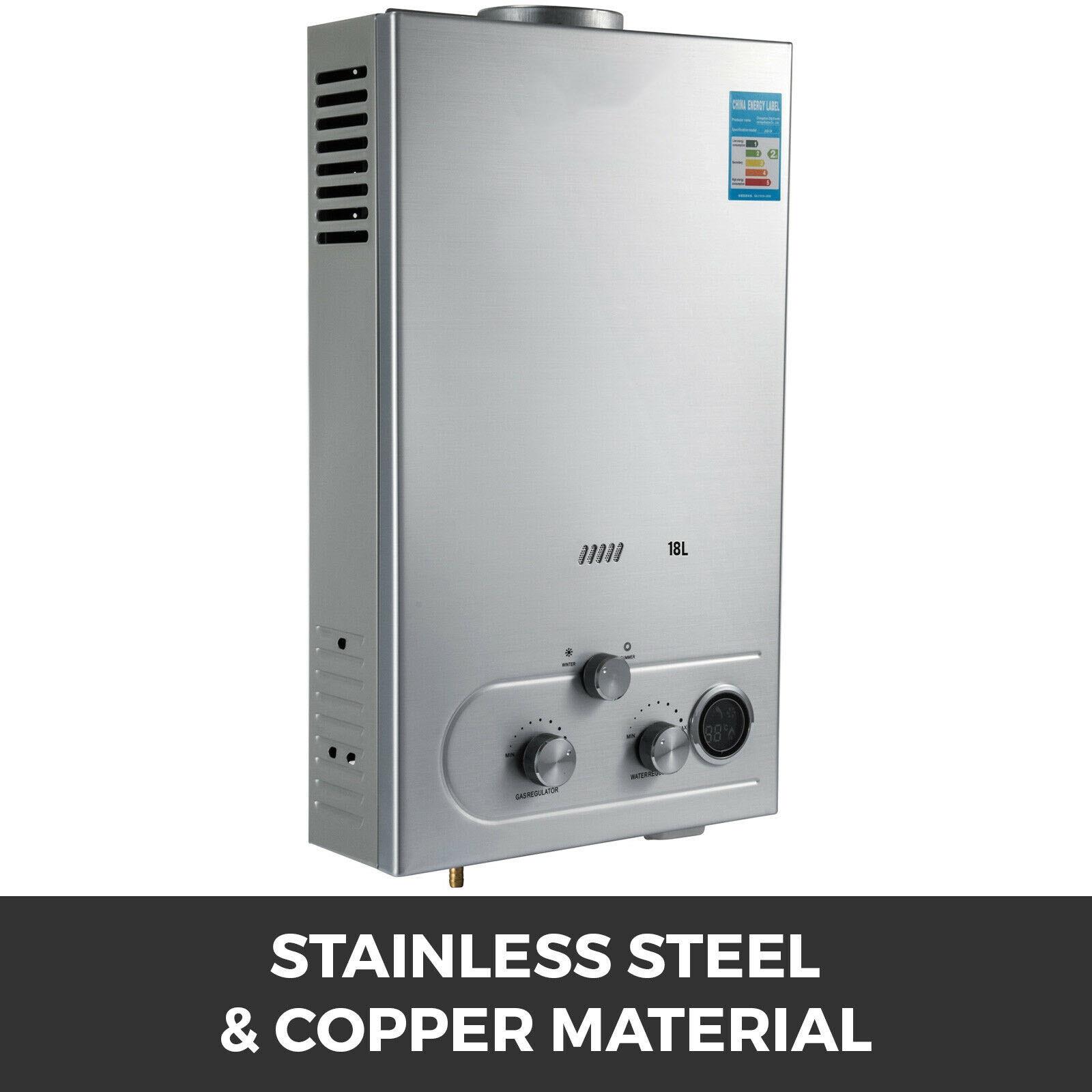 6//8//10//12//18L Instant Boiler LPG Gas Propane Tankless Bath room Hot Water Heater