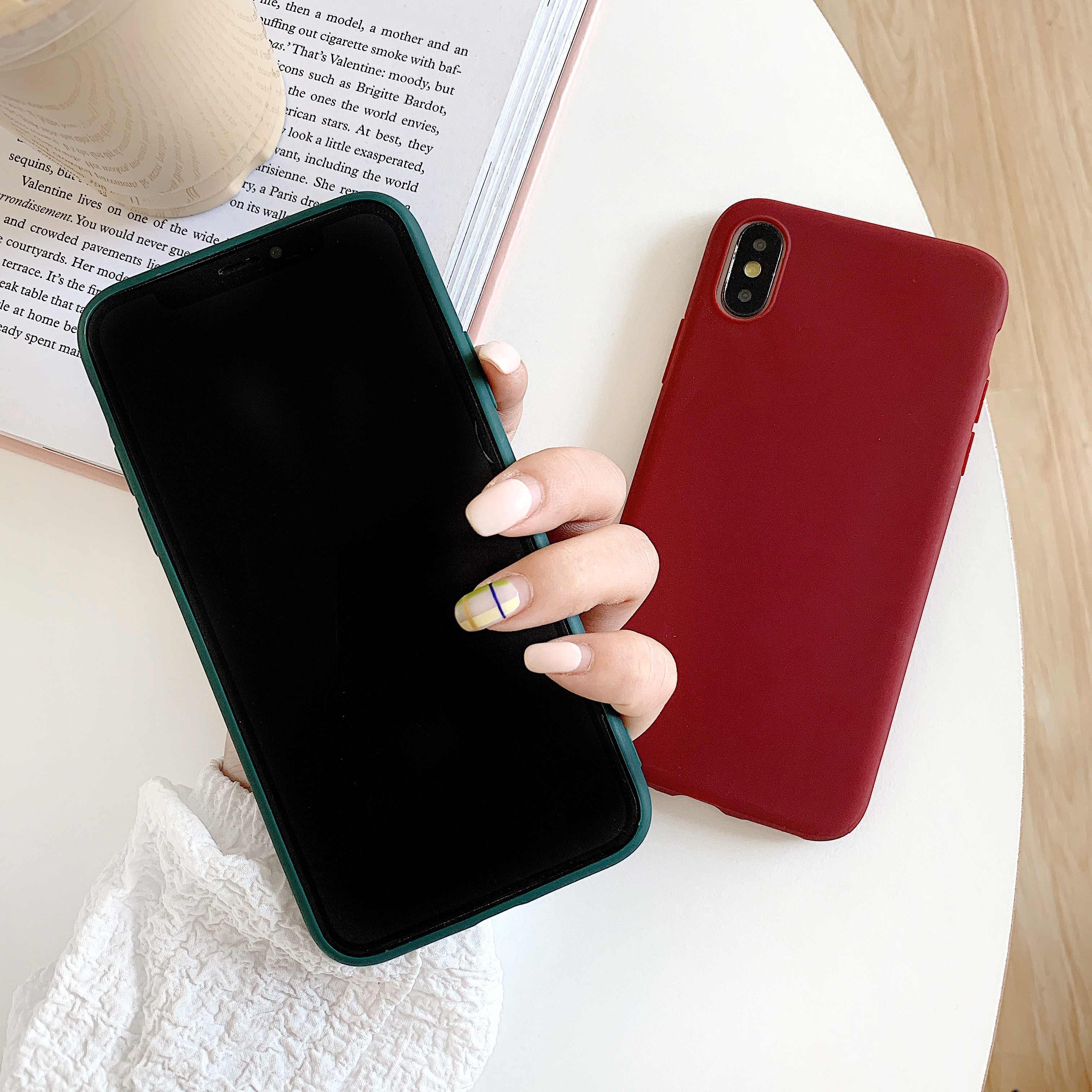 Luksusowe cukierki miękkiego silikonu pokrywa dla iphone 6 6S 7 8 Plus X XS XR 11 Pro Max 11 Pro dla samsung S20 S10 S9 S8 Plus + etui na telefony
