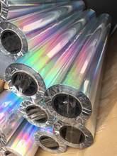 Regenbogen Laser Bunte Auto Film Vinyl Wrap DIY Motorrad Handy Laptop Roller Bike Haut Tasse PVC Aufkleber Silber