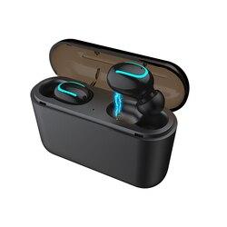 Беспроводные Bluetooth наушники-вкладыши HBQ-Q32 TWS Спортивная гарнитура внешний аккумулятор с микрофоном легко переносить легкие наушники