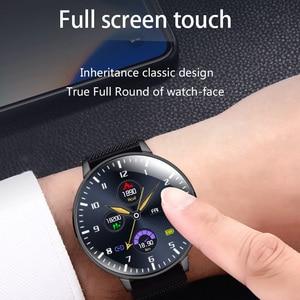 Водонепроницаемые Смарт-часы, фитнес-трекер с полноэкранным экраном и пульсометром, IP68, 2020