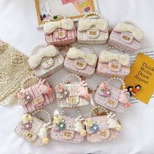 Coin Wallet Purse Handbags Pearl Girls Kids Cute Pouch Tote Crossbody-Bags Small Baby