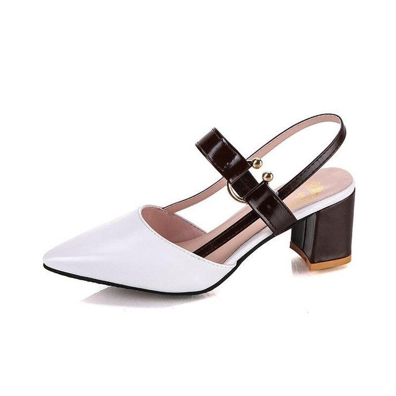 sandálias grossas tamanho grande moda feminina sapatos femininos