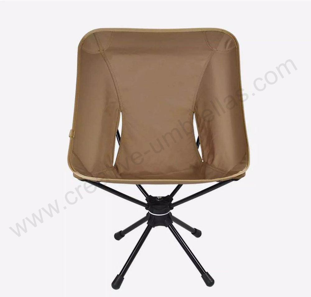 Bearing 150kg Waterproof Tensile 600D Oxford Outdoor Aviation 75T Alloy Compact Foldable 360 Universal Swivel Rotated Chair