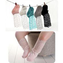 Носки для новорожденных девочек, маленькие хлопковые кружевные носки для маленьких девочек, летние носки, детские аксессуары