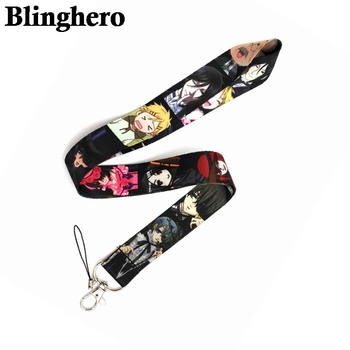 CA1090 Wholesale 20pcs/lot  Black Butler Anime Lanyards Neck Strap Phone Keys ID Card Holder Lanyard for DIY Hanging Rope - discount item  6% OFF Mobile Phone Accessories