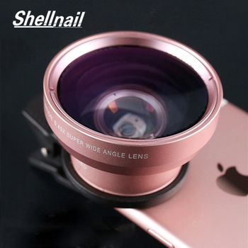SHELLNAIL Phone Camera Lens 0.45X Wide Angle+12.5X Macro Fish Eye Lens for iPhone 11 Xiaomi Samsung HD Phone Camera 2in1 Lens 1