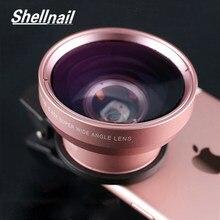 Shellnail telefone lente da câmera 0.45x grande angular + 12.5x macro olho de peixe lente para o iphone 11 xiaomi samsung hd telefone câmera 2in1 lente