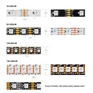 Image 4 - WS2813 dẫn dải điểm ảnh 1 m/4 m/5 m Dual tín hiệu 30/60/144 pixels/đèn led/m, WS2812B Cập Nhật Đen/Trắng PCB, IP30/IP65/IP67 DC5V