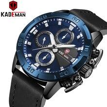 KADEMAN Business Men Watches Top Brand Luxury Waterproof Quartz Wristwatch Date Fashion Casual Shock Resistant Relogio Masculino