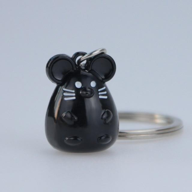 New Chunky Rat Mouse Keychain Fashion Trinket Animal Car Keyfob Bag Pendant Key Chain Personalized Keyring for Women Gift 3