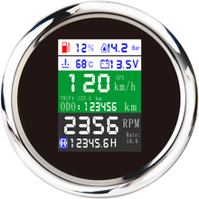Digital-Gauge Tachometer Multi-Functional 85mm with Alarm 10bar 6-In-1 Fuel-Level Water-Temp-Oil