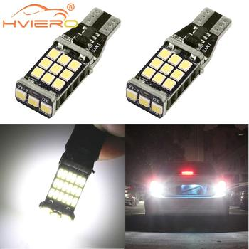 цена на T15 921 Car LED CANBUS Backup Light Reverse Light Brake Light W16W WY16W 2835 Chip No ERROR Tail Bulb Auto Lamp Turn Signal Lamp