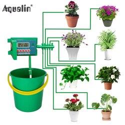 Sistema automático dos kits de rega do gotejamento da casa micro sprinkler com controlador esperto para o jardim, uso interno bonsai #22018
