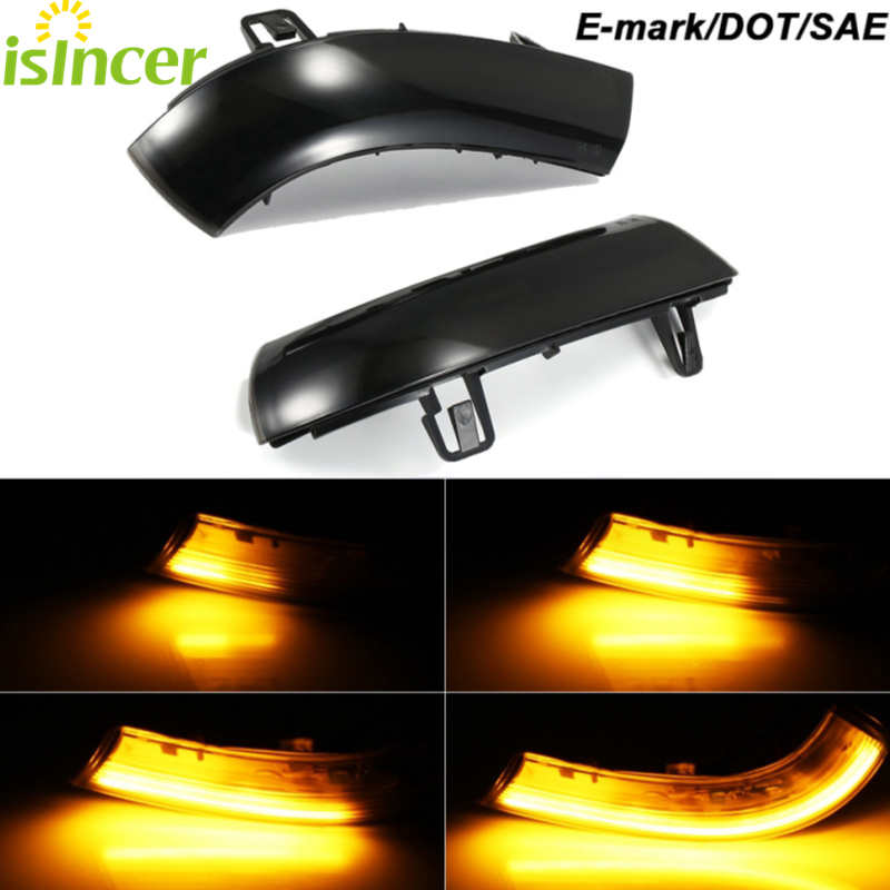2 pieces Side Mirror indicator dynamic blinker LED Turn Signal Light For VW GOLF 5 GTI V MK5 Jetta Passat B5.5 B6 Sharan Superb(China)