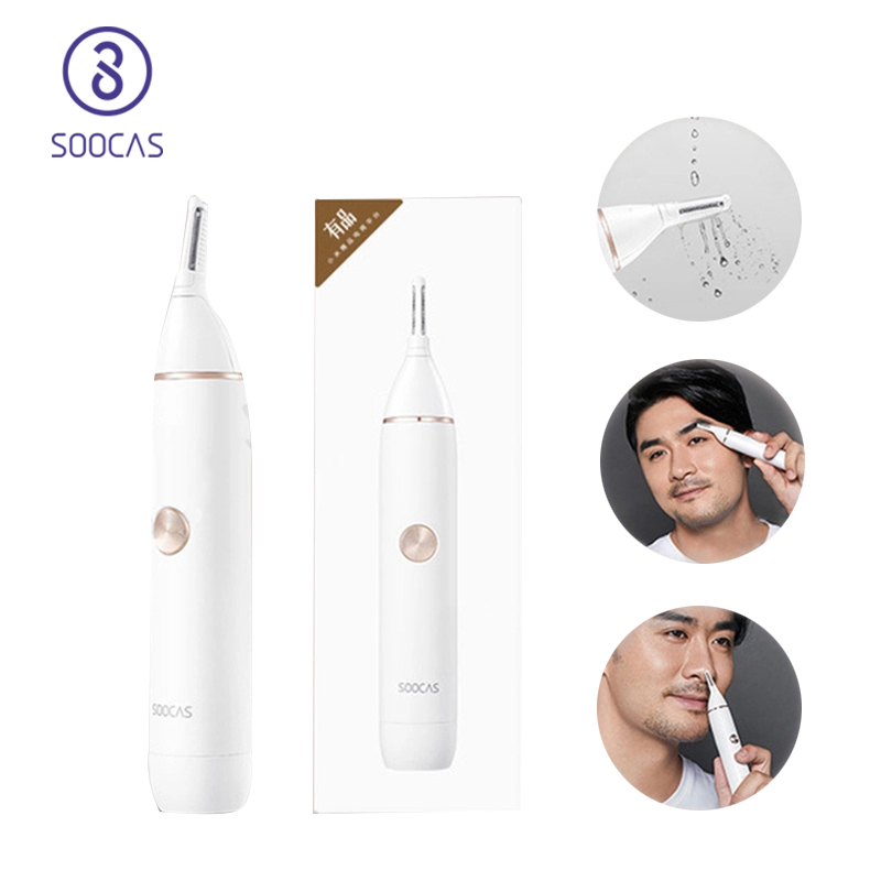 Nose Hair Trimmer SOOCAS N1 Electric Eyebrow Shaver Ears Hair Razor Portable Clipper Removal Safe Cleaning For Man