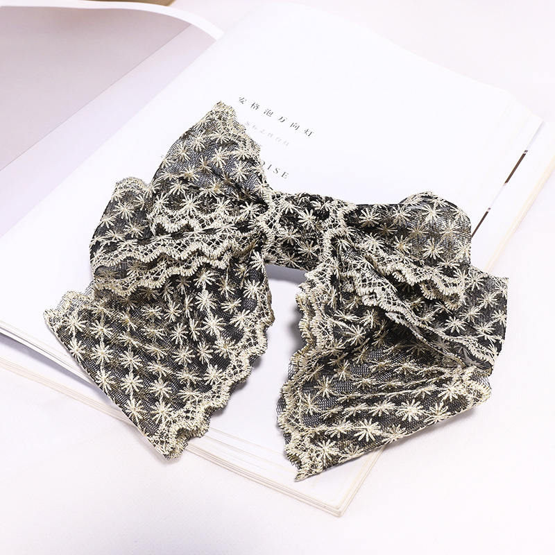 2020 Vintage Snowflake Bow Lace Hair Pin Hair Clips Women Girls Hair Accessories hair ties gumki do wlosow Headwear