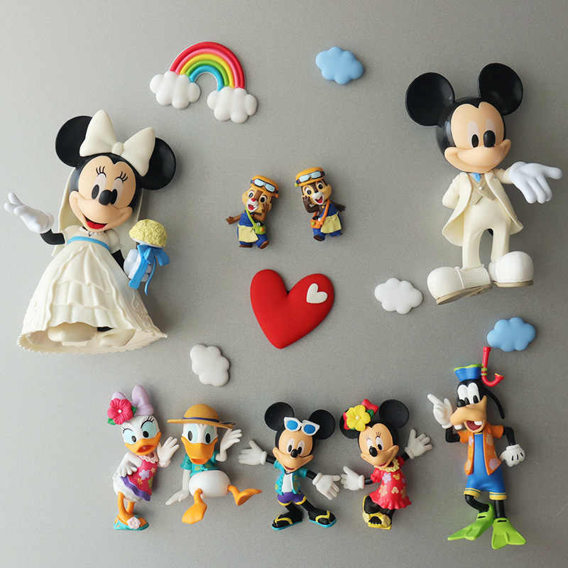 Disney Cartoon Magneet Mickey Mouse Minnie Daisy Donald Duck Home Decorations Koelkastmagneet Souvenir Decoratieve Magneten