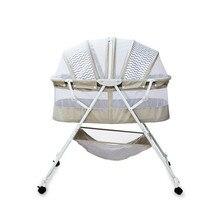 Cuna multifuncional para bebé, cuna portátil con ruedas bloqueables