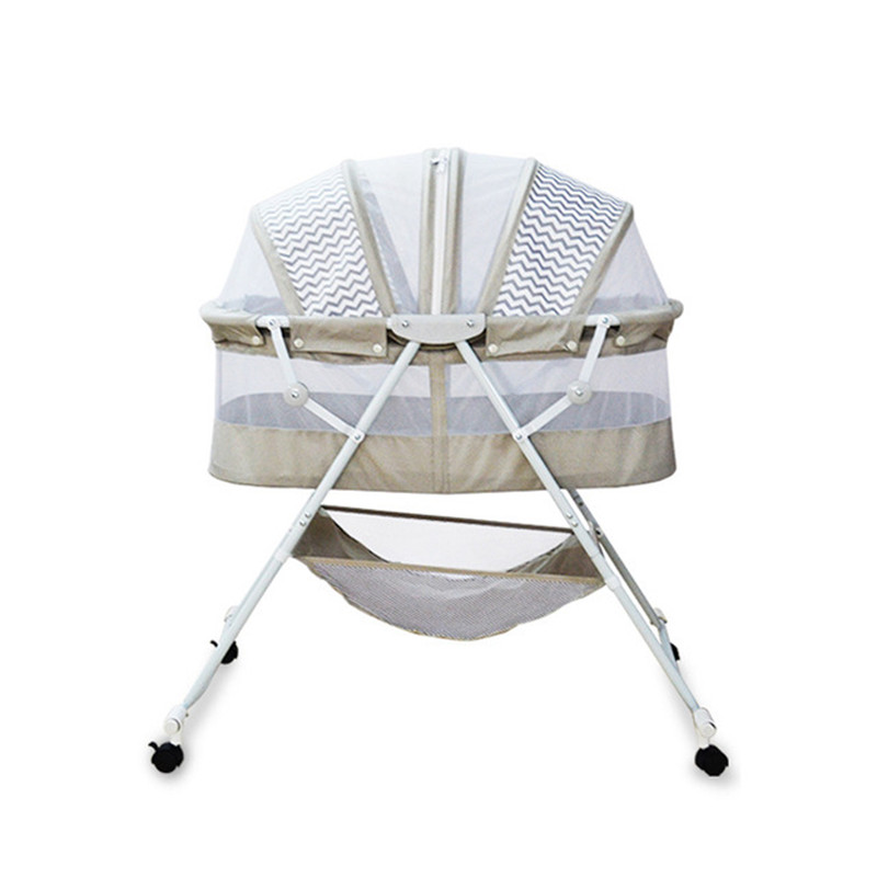 Multifunctional Baby Bed Can Change To Baby Rocking Cradle Portable Infant Bassinet With Lockable Wheels