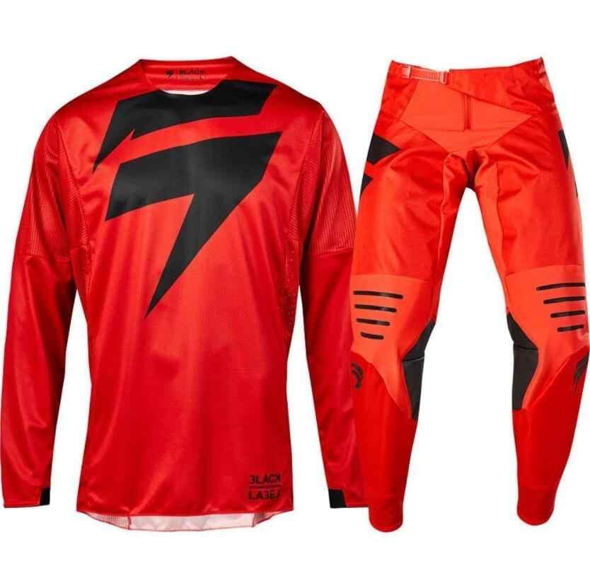 Nouveauté MX 2019 3 manque jaune Jersey pantalon adulte Motocross Gear Set Jersey + pantalon combinaison de vitesse de course