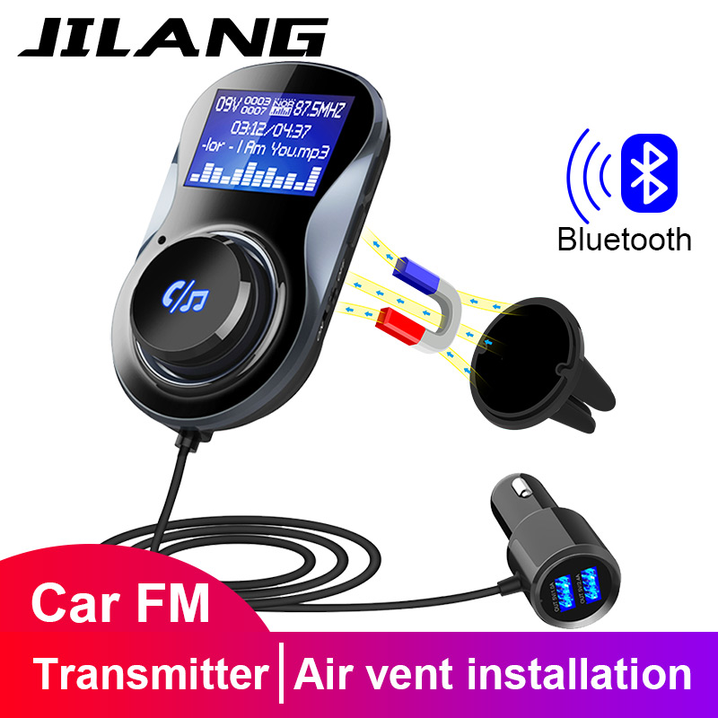 Jilang Bluetooth Hands-free FM Modulator Stereo Car MP3 Player Audio <font><b>Adaptor</b></font> FM Transmitter Support TF for <font><b>iPhone</b></font> XS 8 <font><b>7</b></font>&Android image