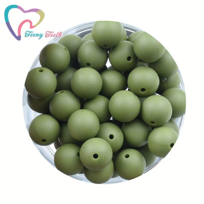 Бусины для бижутерии Teeny Teeth, 10 шт., цвет зеленый