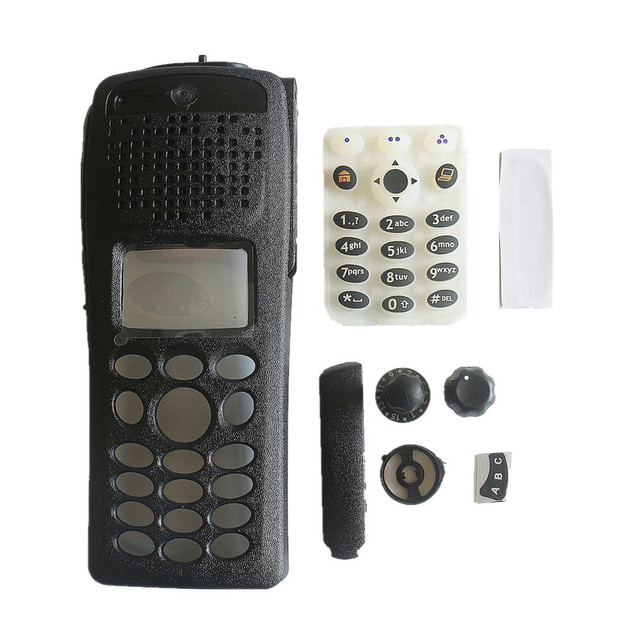1 Sets Replacement New Black Housing Case Front Cover +Keypad+Knob Repair Kit Sets For Motorola XTS2500I III Model 3 Radio
