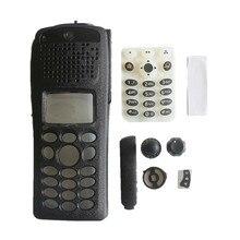 1 مجموعات استبدال جديد أسود الإسكان الغطاء الأمامي لوحة المفاتيح مقبض طقم تصليح مجموعات لموتورولا XTS2500I III نموذج 3 راديو