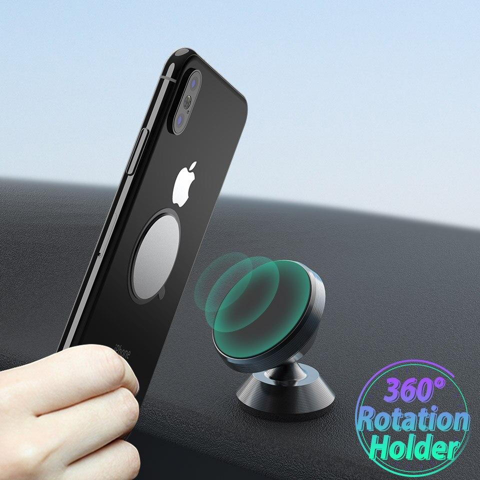 Universal Car Magnetic Holder Stand 360 Degree Dashboard Smart Phone Holder Magnet Air Vent Grip Mount Tablet GPS Bracket Holder