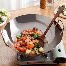 Pan 38cm 40cm Thicken Wok Pans Home Garden Non-stick Skillet Stainless Steel Pan Gas Stoves Frying Pan Pancake Pan Cooking Pot