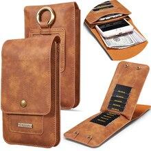 Универсальная сумка для телефона Iphone XS, MAX, XR, X, 6, 7, 8, 11, 12, чехол кошелек из искусственной кожи с зажимом для ремня на талию для Samsung S8, S9, S10 и т. д.