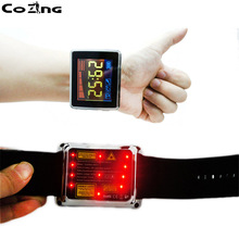 Rhinitis Therapy instrument Balance Diabetics Low Level Laser Therapeutic Acupuncture Wrist Watch for High Blood Pressure watch of wrist of 650 mm drop three tenors semiconductor fields rhinitis nasal congestion wrist laser fieldsnew wrist laser ther